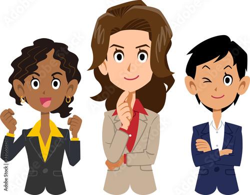 Cuadros en Lienzo 異なる人種の女性のビジネスチーム