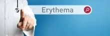 Erythema. Arzt Im Kittel Zeigt...