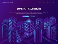 Smart City Solutions Isometric...