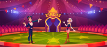 Magician And Woman On Circus A...
