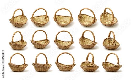 Obraz empty basket on white background  - fototapety do salonu