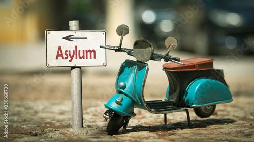 Photo Street Sign to Asylum