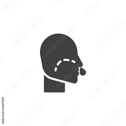 Fényképezés Runny nose vector icon
