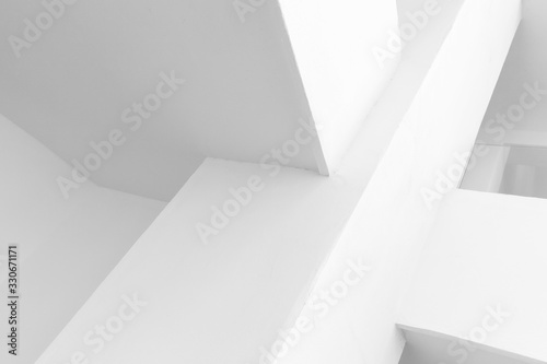 Abstract white interior background, corners