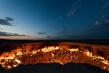 Darvaza Crater Fire Turkmenistan