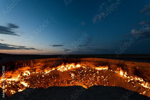 Stampa su Tela Darvaza Crater Fire Turkmenistan