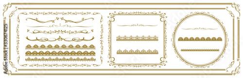 Obraz decorative gold frame set Vector - fototapety do salonu