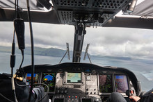Helicopter Cabin Flying Over F...