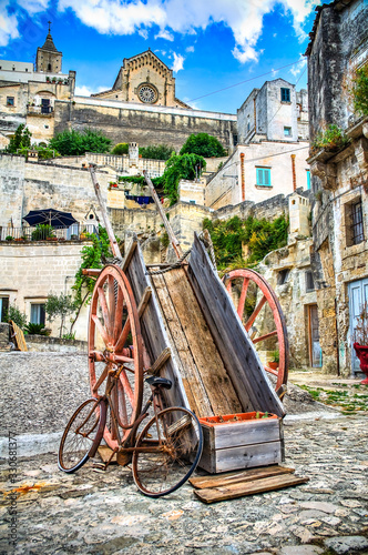 Alleyway. Sassi of Matera. Basilicata. Italy. Canvas Print