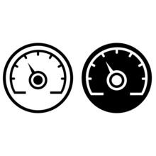 Gauge Vector Icon. Speedometer...