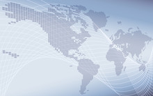 A World Map Background Global Business Or Technology Abstract Concept