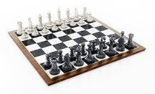 Chessboard With Black And Whit...