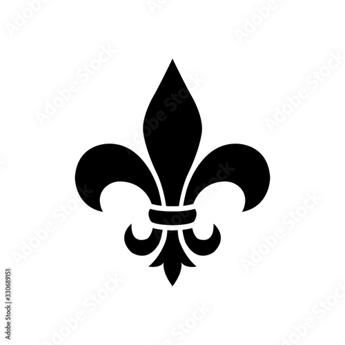 Leinwand Poster fleur de lis - ornament icon vector design template