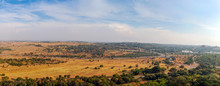 Landscape With Fields And Trees Next To Pretoria, Capital City Of South Africa