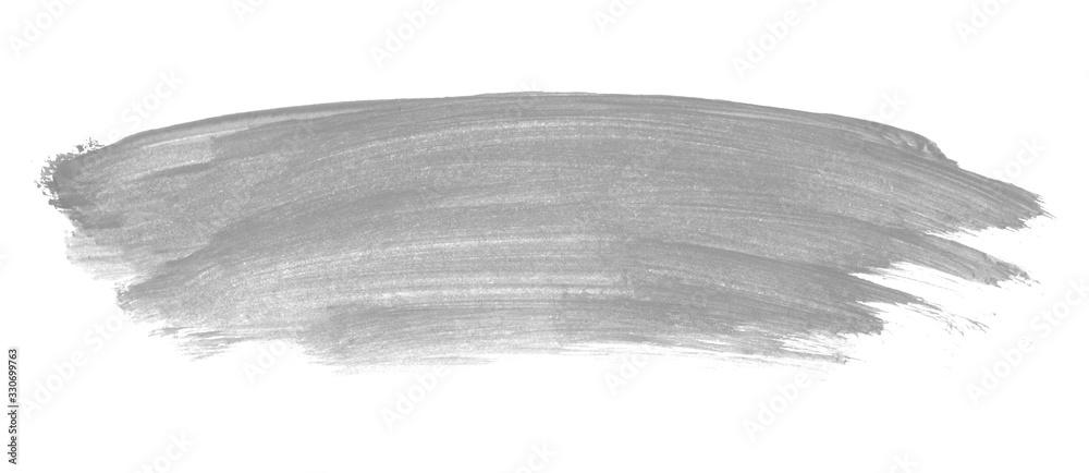 Fototapeta Farbmarkierung mit grau Farbe gemalt mit einem Pinsel