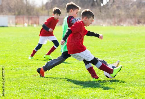 obraz PCV Boys play soccer sports field