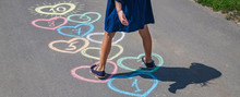Children's Hopscotch Game On T...