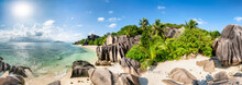 Panoramic View Of Anse Source ...