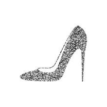 Sketch Of High Heel Woman's Shoe