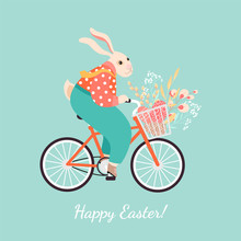 Easter Greeting Card With A Cu...