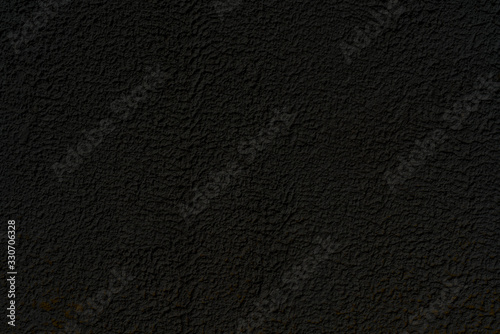 Fototapety, obrazy: Abstract black background. Black stucco texture. Dark rough surface.
