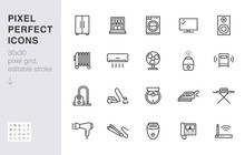 Household Appliance Line Icon ...