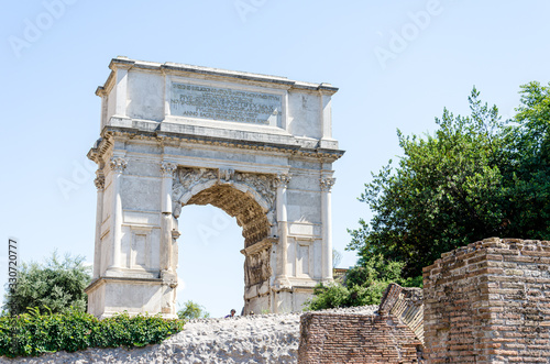 Fotografering The Arch of Titus, Rome