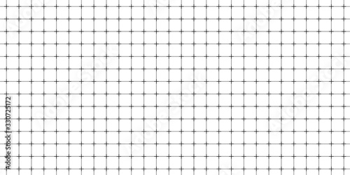 Lined paper with a seamless squared grid. Fototapet