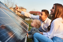 Man Shows His Family The Solar...