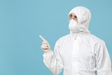 Man In White Protective Suit R...