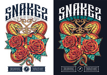 Poster Design With Two Snakes