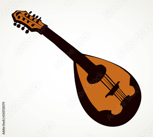 Mandolin. Vector drawing icon sign Wallpaper Mural
