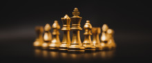 Business Leader Concept. Chess...