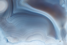 Close- Up Texture Of Blue -whi...