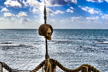 Human Skull Over Spear As The ...
