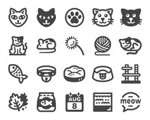 Cat Icon Set,vector And Illust...