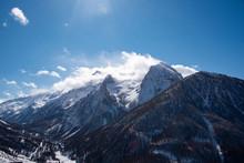 Cime Imbiancate E Vedute Delle Bellissime Montagne Italiane