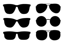 Set Of Black Sunglasses And Gl...
