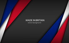 Made In Britain, Modern Vector...