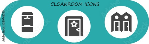 cloakroom icon set Canvas-taulu