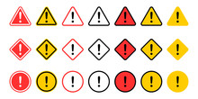 Caution Signs Collection. Symb...