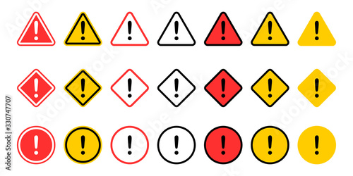 Fotografie, Obraz Caution signs collection