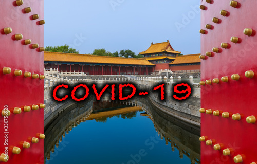 Fotografía Quarantine in China. Gugong Forbidden City Palace - Beijing China