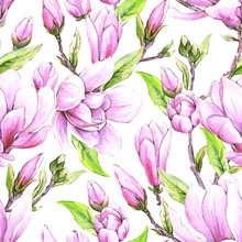 Seamless Floral Wallpaper With...