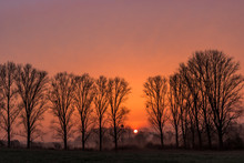 Beautiful Sunrise Or Sunset Be...