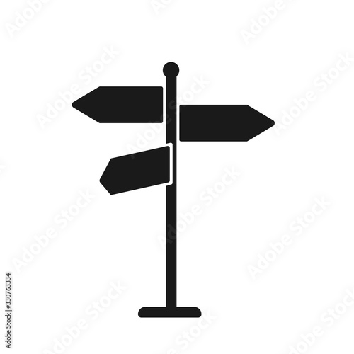 sign post icon Canvas