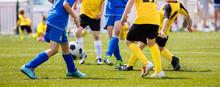Soccer Shot. Young Boys Kickin...