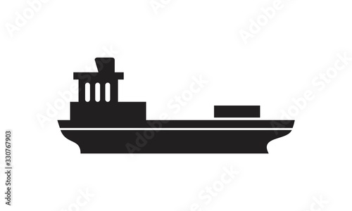 Foto Barge icon template black color editable