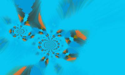 Fototapeta na wymiar illustration of colorful decorative texture painting. Vibrant paint pattern backdrop