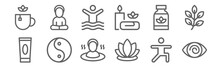 Set Of 12 Therapy Icons. Outli...